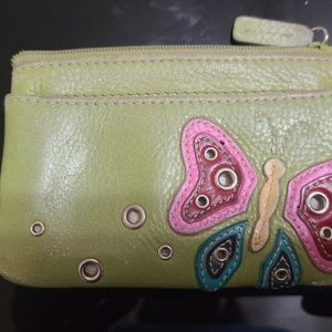 Fossil change purse with keyring